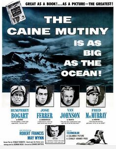 The Caine Mutiny, Fred MacMuray, Humphret Bogart, Van Johnson, Jose Ferrer
