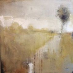 Poem lines....the bigger pictures.., ' A gentle tree in a gentle meadow,' by Tonie Rigby, acrylic on board, 33 inches square.