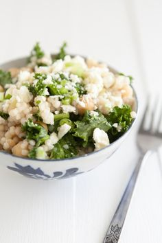 Kale and cous cous