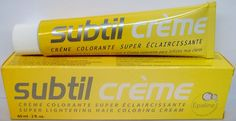 Subtil Creme Super Lightening - Super Lightening Hair Coloring Cream Enhanced With Epaline for Gentleness - Size: 2.0 Fl. Oz. Tube - Shade Selection: 9.1SE - Tres Blond Cendre Clair/Lightest Ash Blond ** Details can be found by clicking on the image.