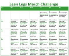 Lean Legs March Challenge! One month to better legs! :) - from funfitandfabulouswithlauren.blogspot.com