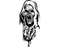 Animal Stencil, Grim Reaper, Jpg File, New Beginnings, Cool Art, Horror, Artwork, Image, Fictional Characters