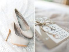 Caitlin + Kenneth // Wedding Brides details shoes and staionary