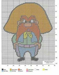 Yosemite Sam x-stitch