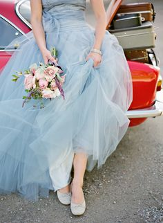 Love the bouquet. The dress is beautiful too