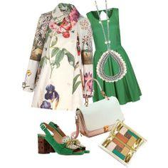 Verde speranza, verde delle foglie, dell'erba, dei profumi delle spezie! Indossarlo fa bene all'umore! #verde #outfit #look #trend #style #consiglidistile
