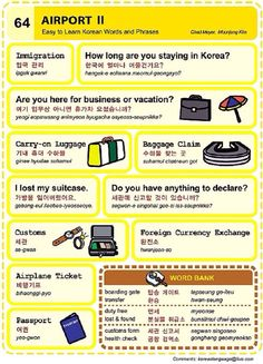 64. Airport II. An Illustrated Guide to Korean by Chad Meyer and Moon-Jung Kim.