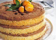 NAKED CAKE DE LARANJA COM CHOCOLATE