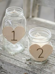 table numbers/ centerpieces
