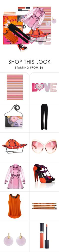"""I love orange more than pink"" by roxariaone ❤ liked on Polyvore featuring MML, Surya, Tri-coastal Design, Prada, Thierry Mugler, Roberto Cavalli, Tom Ford, RED Valentino, Pierre Hardy and Kastur Jewels"