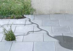 Water Tiles are 15 different pavement tiles sized cm inspired by the Dutch waterworks. A square, terras or playground can be changed into a river delta! Rain Garden, Terrace Garden, Water Garden, Garden Paths, Urban Landscape, Landscape Design, Plant Design, Garden Design, Granite Paving