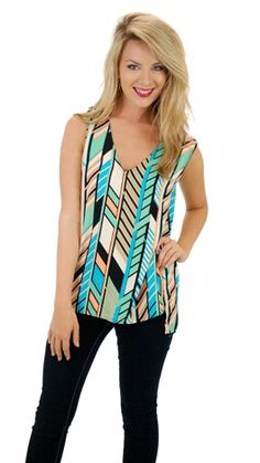 Perfect to wear under cardigans and blazers! $44 at shopbluedoor.com