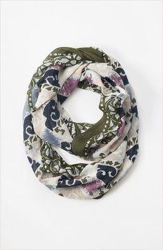 Woodblock border infinity scarf