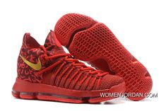 promo code 8518a 5066b Top Deals Nike Zoom KD 9 Elite Varsity Red Gold