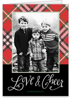 holiday card plaid - Google Search