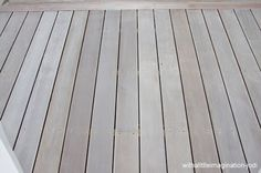 WITH A LITTLE IMAGINATION blog - decking made to look weathered - used Wattyl Weatherguard Decking Water-based Stain in Snow Gum - gives a white washed look