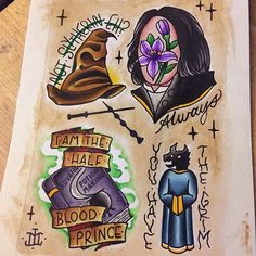 Painted up and ready to be tattooed! A tribute to some of my favorite things…
