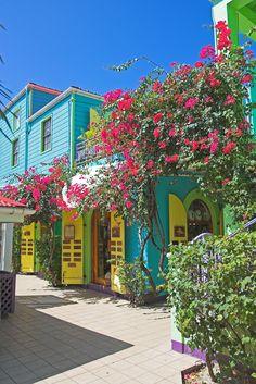 Shops in Cruz Bay, St. John, US Virgin Islands