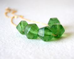 Recycled GLASS necklace.