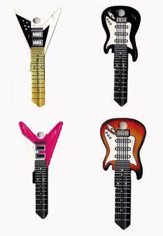 Rocking Keys - Guitar Shaped Keys