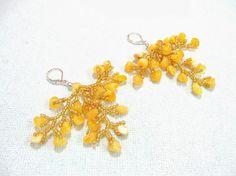 Natural Amber Branch Earrings