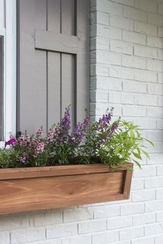 DIY Cedar Window Planters - Shades of Blue Interiors