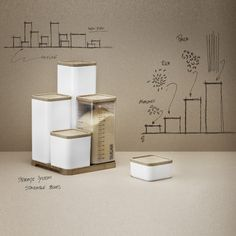 Keep your food in one place with RIG-TIG stackable storage boxes. The boxes can be combined and stacked upon request on a stylish tray of bamboo. Use the boxes for storing pasta, rice, sugar, flour and much more on your kitchen counter, in the closet or drawer. Maybe use them to store corn flakes, muesli and oatmeal, so the complete set can be put on the breakfast table. Storage boxes can also be placed in the refrigerator with jam, butter or profits from dinner. Design: Troels Seidenfaden…