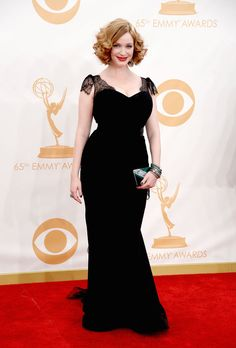 LOS ANGELES, CA - SEPTEMBER 22:  Actress Christina Hendricks arrives at the 65th Annual Primetime Emmy Awards held at Nokia Theatre L.A. Liv...