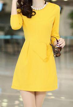 Simple yet so vibrant. Yellow dress.