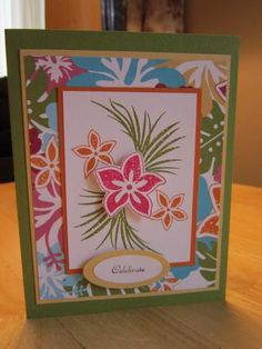 Tropical Celebration by mfb - Cards and Paper Crafts at Splitcoaststampers