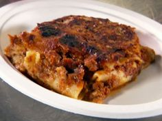 Lasagna Bolognese recipe from Diners, Drive-Ins and Dives via Food Network