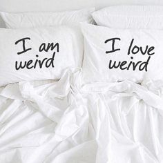 I am Weird I Love Weird Pillow Cases Couples Pillowcases For Him Her Boyfriend Girlfriend Husband Wife His Hers Couples Gift Wedding Gift