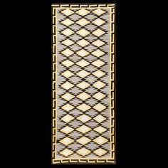 American-Navajo Circa: 1920 Color: Grey Origin: USA Width: 3' 4'' ( 101.6 cm ) Length: 8' 6'' ( 259.1 cm )#antique #Navajo #rug.Stock Id: #20306