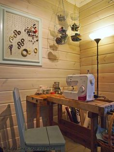 sewing room  - crafty room Sewing Table, Crafty, Antiques, Room, Furniture, Home Decor, Antiquities, Homemade Home Decor, Decoration Home