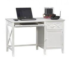Warwick White Desk | Home Office Furniture by Linon Home Decor
