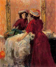 Joaquim Sunyer i de Miró - El maquillaje (1907)