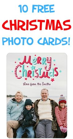 10 FREE Photo Christmas Cards!!  {just pay s/h}
