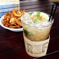 "Today's lunch. ""Brooklyn Ribbon Fries"" at 246common, Tokyo. 246commonでBrooklyn Ribbon Friesのリボンフライにミントジュレップ、PARROT KITCHENのハンバーガー。 - @keiyamazaki- #webstagram"