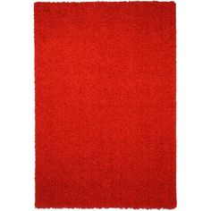 Shag Solid Red Area Rug (5' x 7') -Sale: $67.89 Primary materials: Polypropylene Pile height: 1.18 inches Latex: Yes Style: Contemporary Primary color: Red Pattern: Solid