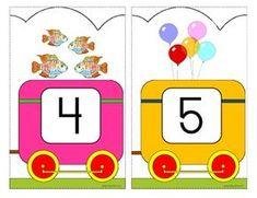 Number Train Wall Decor by KidSparkz Trains Preschool, Preschool Curriculum Free, Kids Math Worksheets, Free Preschool, Preschool Themes, School Wall Decoration, Pre K Schools, Train Template, Numbers For Kids