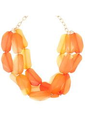 Coral Jewel Layer Necklace