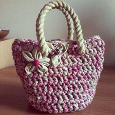 Crochet bag pinky