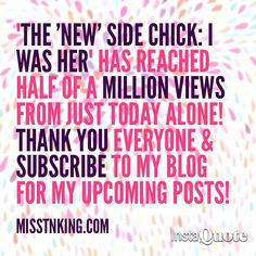 """Just two weeks ago, I relaunched my Blog in hopes of inspiring, encouraging and uplifting women across the world through my personal thoughts and experiences.  My """"Chapter XXII"""" post received only 21 visitors and 47 views.  I am crying years of joy right now because I never imagined that two weeks later, my blog post would be going viral across the WORLD.  I sincerely want to thank EVERYONE who has read, commented, shared, posted, promoted anything pertaining me and my blog. I see all the…"""
