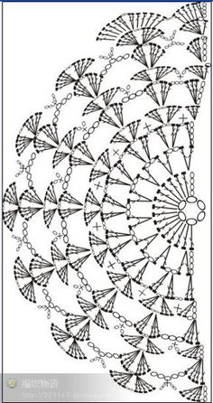 diagram, no pattern KENDŐ, it really is a clutch pattern but as a pinner pointed out ~ it can be a shawl pattern.nice and easy! Hmmm Shawl to go wiTry it as a crochet sleeve on a tank top.I love crochet patterns that make mathematical sense! Crochet Wrap Pattern, Crochet Motifs, Crochet Diagram, Crochet Poncho, Crochet Chart, Crochet Scarves, Crochet Doilies, Crochet Lace, Doily Rug