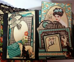 annes papercreations: How to make a 6 x 4 flip mini album from start to finish part 3
