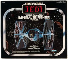 Battle Damaged Imperial TIE Fighter - Star Wars toy by Kenner
