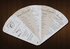 Latte & Cream 6-Petal Wedding Program Fan by ayleighdesigns