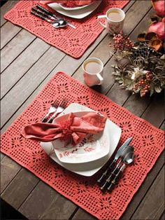 crocheted spiderweb place mat-free pattern download