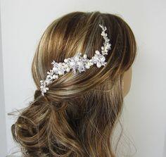 Pearl Bridal Comb ISABELLA Hair Comb Bridal by adrianasparksacc