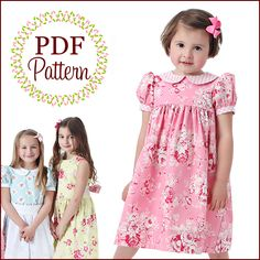 Precious Dresses (3 mo.-10 years) from Scientific Seamstress | S is for Sewing just made an adorable version